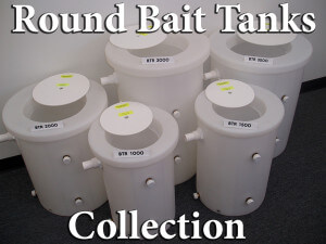 Round Bait Buckets in 5 Sizes